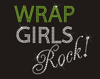 Wrap Girls Rock Hot Fix Rhinestone Transfer Logo