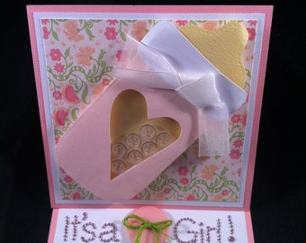 It's a Girl Greeting Card (Easel Style)