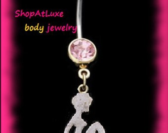 Mudflap Lady Dangle Belly Navel Ring