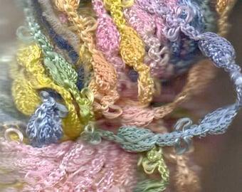 Great Adirondacks Rosette Yarn Seashell