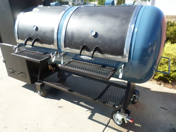 Bbq Smoker Reverse Flow With Warming Compartment By