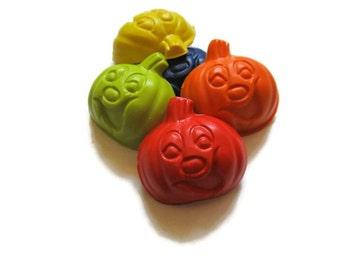 Pumpkin Crayons set of 20 - Party favors - Halloween Crayons