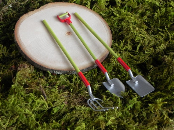 Unavailable listing on etsy for Miniature garden tools