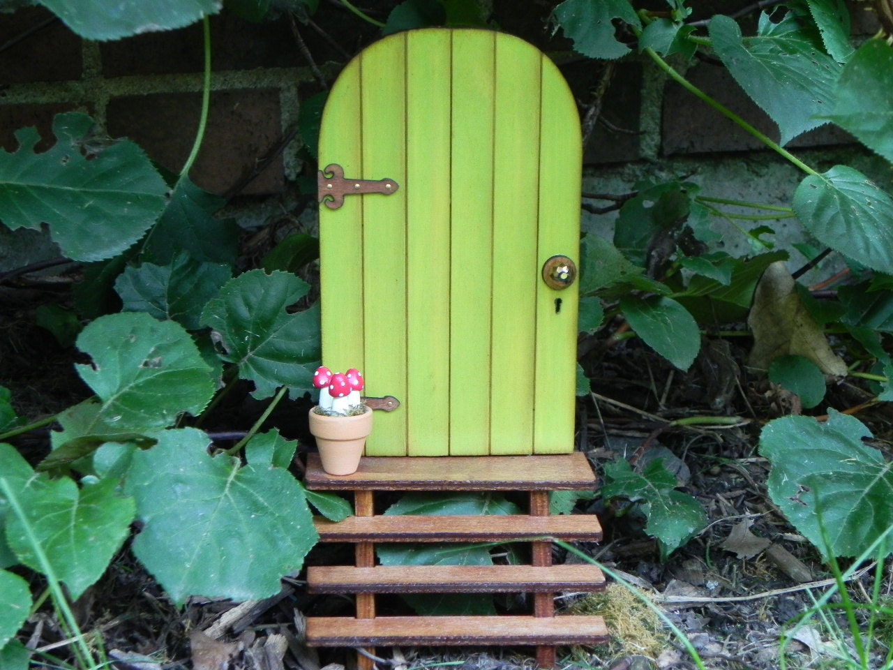 Fairy Door Set Fairy Garden Miniature With Stairs And Clay Pot