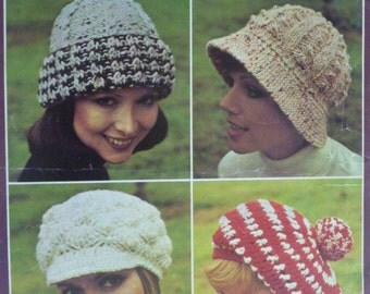 Patons - Hats to Knit and Crochet #1219 - crochet hat pattern, knit hat pattern 1253