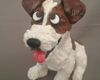 Jack Russell Terrier dog figurine