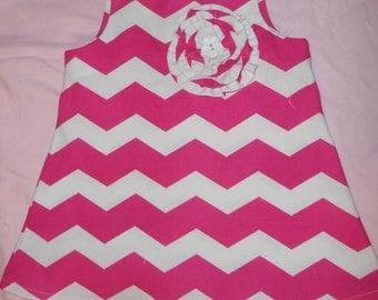 Toddler Chevron dress, size 18months