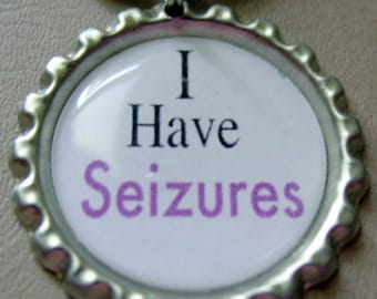 I Have Seizures Medical Alert Key Chain
