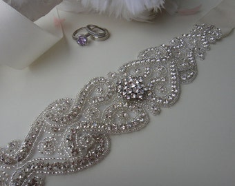 Bridal Sash, Bridal Belt, Swarovski Crystal Bridal Belts, Bridal Sash Belt, Wedding Belt, Beaded Bridal Belt, Crystal bridal belt,