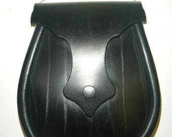 Handmade Black Old Hag, Leather Ness Sporran.
