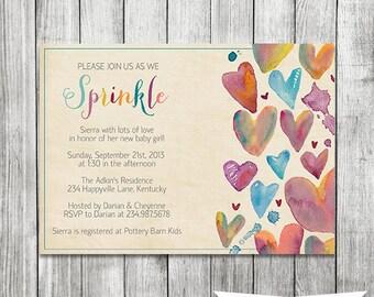 Sprinkle Baby Shower Invitation - 5x7 JPG