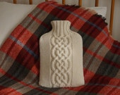 Knitted Hot Water Bottle Cover / Cosy Cream - KENTON