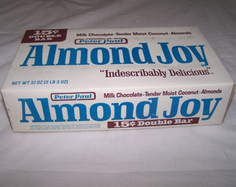 1960's  Almond Joy 15 cents  candy box