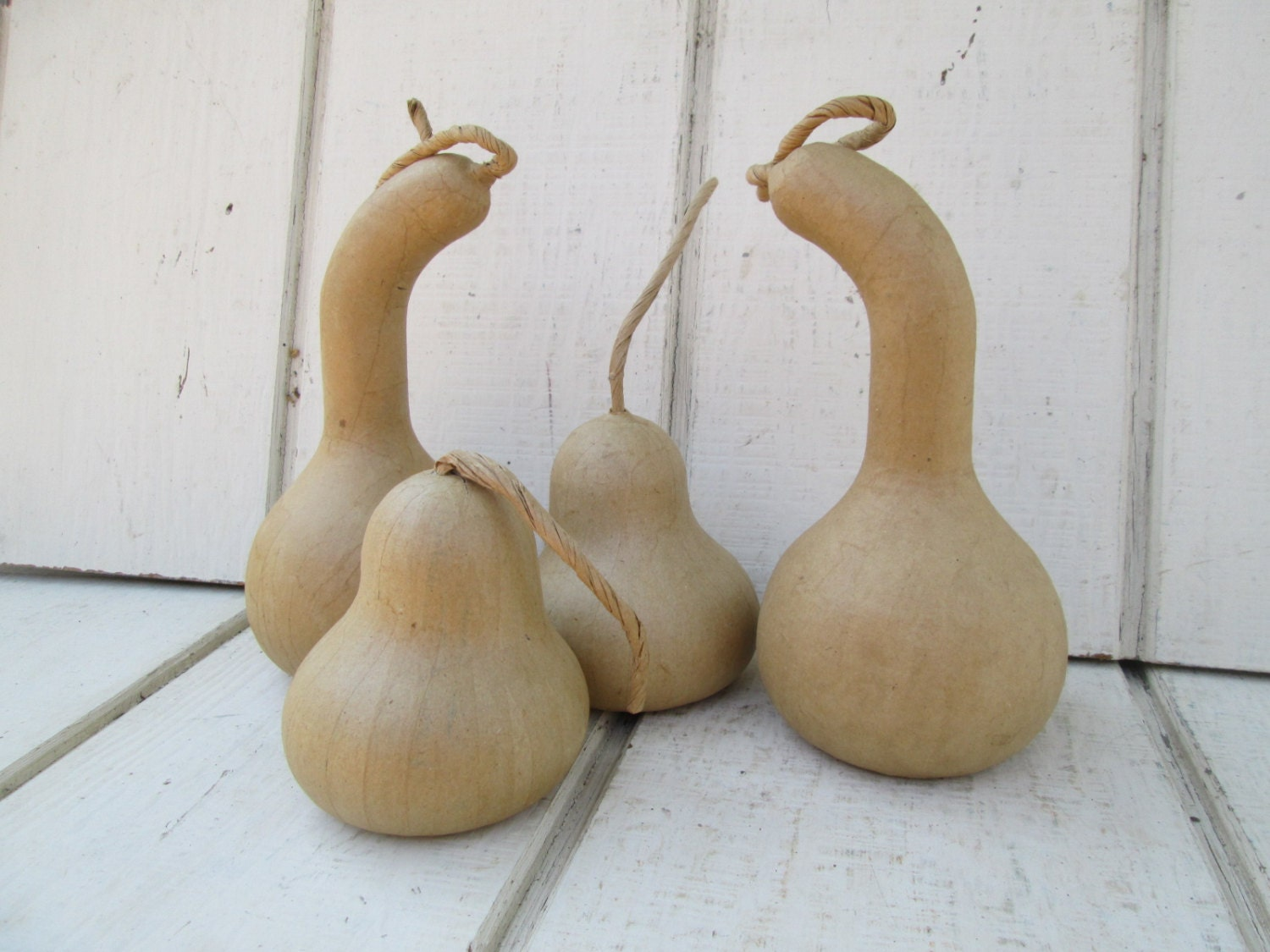 items similar to paper mache gourds set of 4 ready to