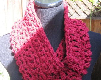 Crochet Cowl - Red