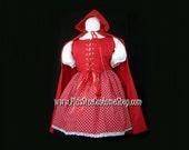 Sexy Little RED RIDING HOOD Plus Size Halloween Costume Adult Womens 1X 2X 3X 4X 5X - 4 pcs New