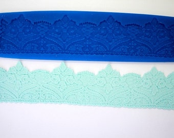 LACE MOLD 13 Inches (Jumbo) SILICONE Mold For Fondant, Gum Paste, Chocolate, Hard Candy, Fimo, Clay, Soaps