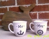 Mr. and Mrs. Anchor Mug Set