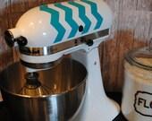 Kitchen Mixer Decal Chevron You Choose The Color