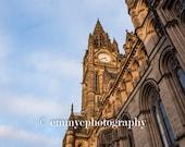 "Photo Print - Wall Art - Manchester Town Hall Colour Print 6"" x 4"""