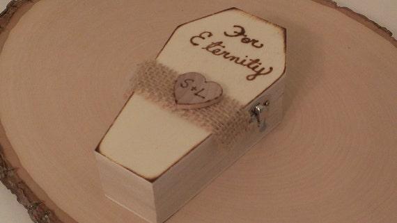 Items Similar To Halloween Wedding Ring Bearer Box Goth Wedding Ring Box Ti