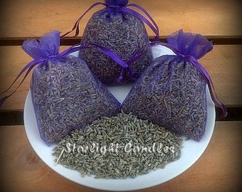 75 - 3x4 Dried Lavender Sachets -Wedding Toss - Wedding Favors - Lavender Toss Bags - Dried Flowers