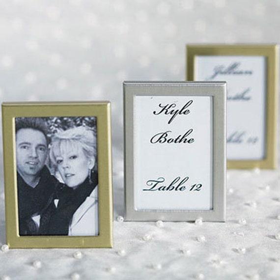 Items Similar To Easel Back Mini Photo Frames Wedding Favors DIY Wedding Table Decor On Etsy
