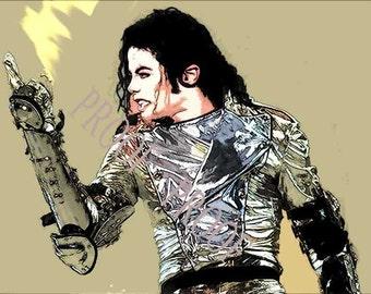 NEW! Michael Jackson Limited Art Print 12x18 LE 50