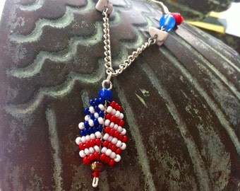 Independence Day Necklace w/ Earrings
