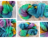 Hand dyed 80/ 20 Extra Fine Merino/ Silk Lace, TreLiz color: Reef