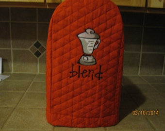 Red blender small appliance cover