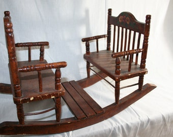Vintage Baby Doll Seesaw Chair