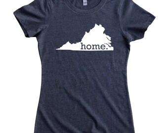 Homeland Tees Virginia Home State Women's T-Shirt