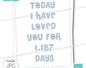 Today I Have Loved You, love you is anniversary gift valentine template card personalized notecard heart diy husband wedding boyfriend
