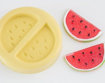 Watermelon Silicone Mold: 2 Cavity