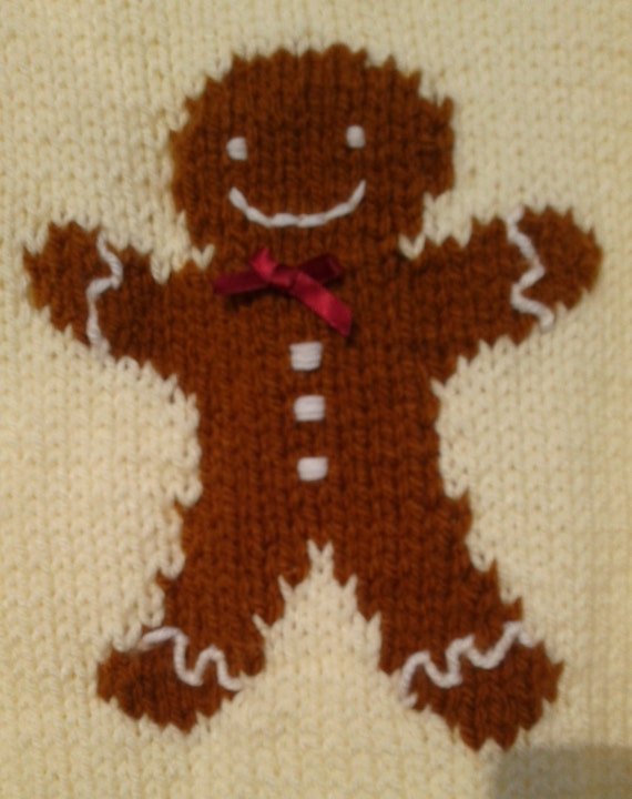 Knitting Needles Norwich : Gingerbread man jumper chunky knitting pattern from