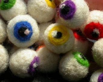 Needle Felted Eyes For Beading/Crafting Set of Six