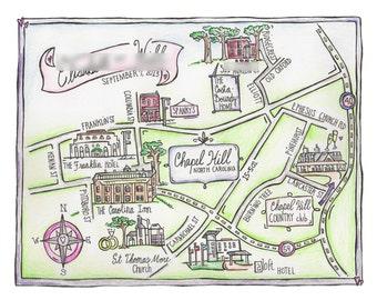 Medium Hand Drawn Wedding Maps