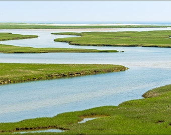 Fort Hill Salt Marsh Wellfleet Cape Cod National Seashore Landscape Fine Art Print