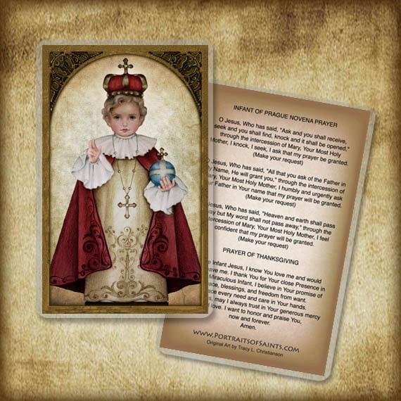 Infant Of Prague Holy Card Or Wood Magnet 0025