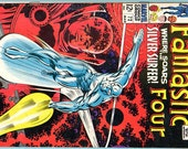 Fantastic Four 72 - Soars the Silver Surfer - Jack Kirby - Stan Lee - 1968 - Really Wonderful Condition - One Owner - For Him - Father's Day
