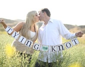 Tying The Knot Banner - Rustic Wedding Banner Photo Prop - Bridal Shower Decoration - Wedding Decoration