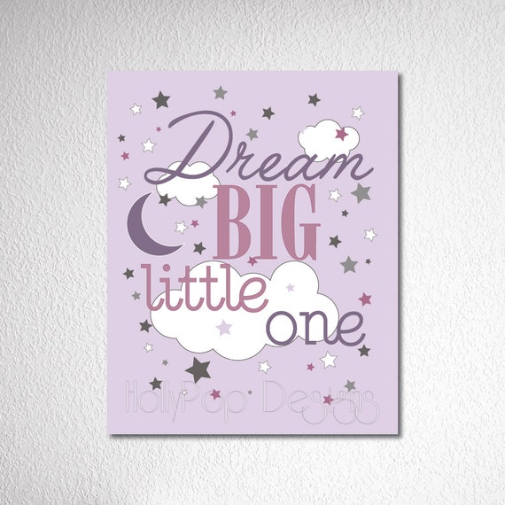Baby Wall Decor Quotes : Nursery wall decor dream big quote baby girl bedroom