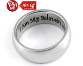Engagement Ring I Am My Beloved - Wedding Band, Stainless Steel Ring Unisex Ring Best Gift for Girlfriend, Boyfriend