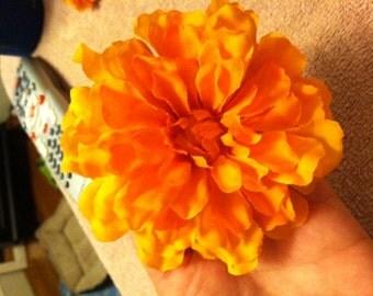 Basic Orange Faux Flower Hair Clip/Accessory