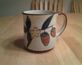 On Sale Beautiful Strawberry Stoneware Coffee Mug