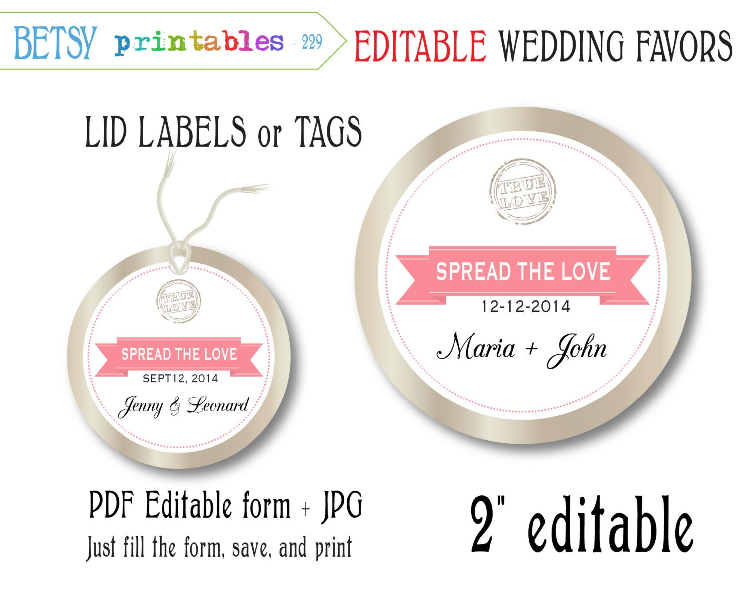 Free Printable Wedding Gift Tags: Mason Jar Wedding Favor, Editable Label, Editable Tags