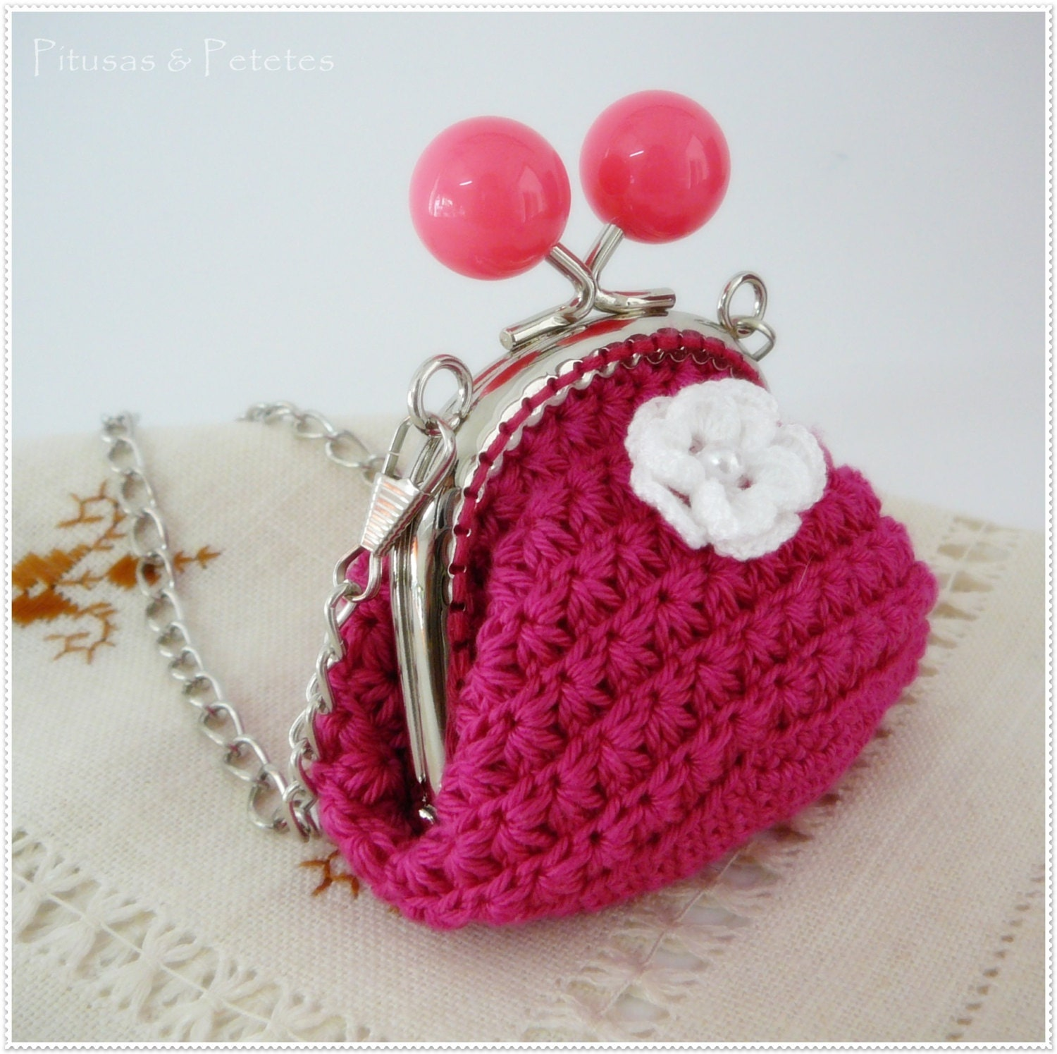 Coin Purse Crochet : Items similar to Crochet coin purse on Etsy