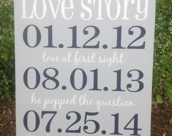 ... Gift, Important Date Sign, Wedding Gift , Dallas Cowboys Wedding
