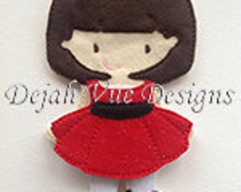 Lilly Doll Felt Embroidery Design